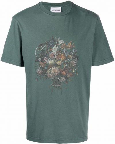 Zielona T-shirt z nadrukiem bawełniana Han Kjobenhavn