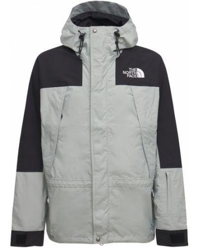 Серая куртка с капюшоном на молнии The North Face