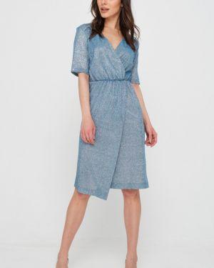 Платье с поясом с запахом с V-образным вырезом Fly