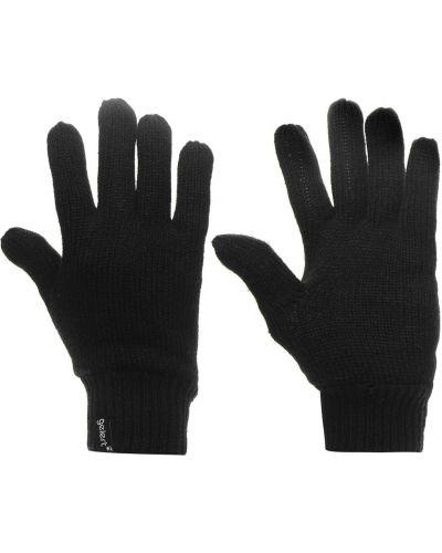 Ciepłe czarne rękawiczki z akrylu Gelert