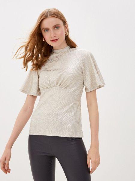 Серебряная блузка с коротким рукавом Dorothy Perkins