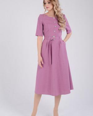 Платье с поясом на пуговицах платье-сарафан Zip-art