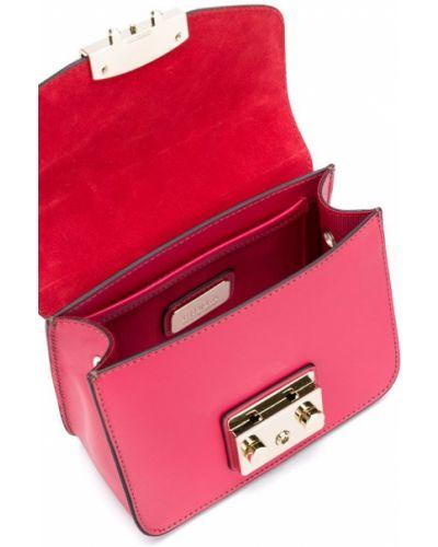 Красная сумка на цепочке Furla