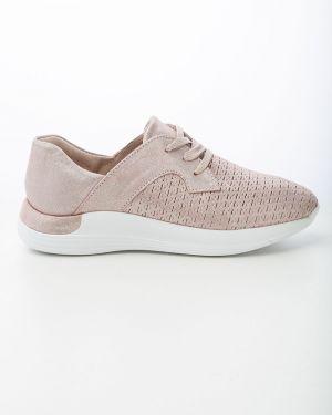 Кожаные спортивные розовые кроссовки Sidestep
