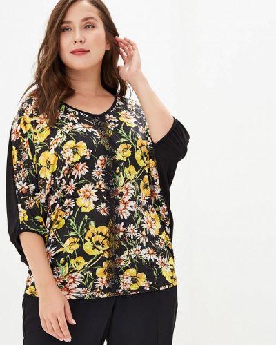 Блузка с коротким рукавом весенний черная Артесса