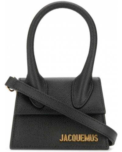 Черная сумка через плечо с перьями свободного кроя Jacquemus