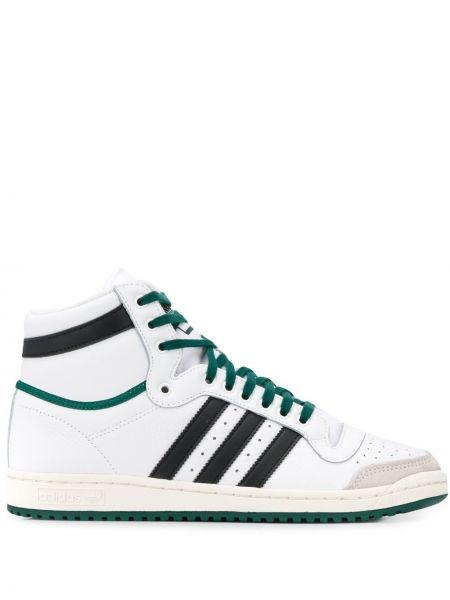 Высокие кроссовки на шнуровке с логотипом Adidas