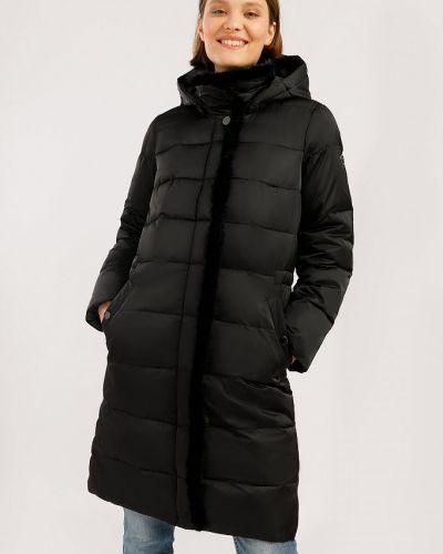 Кожаная куртка с капюшоном - черное Finn Flare