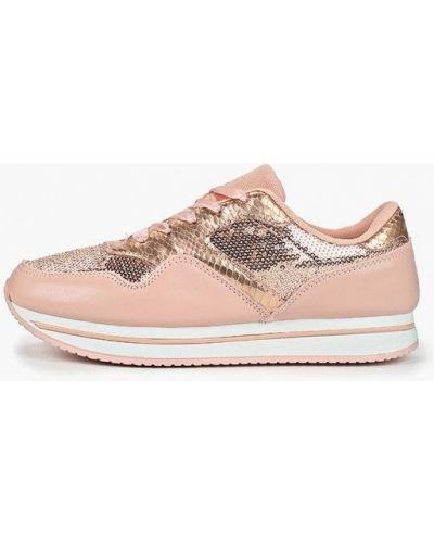 Кожаные кроссовки - розовые Dino Albat