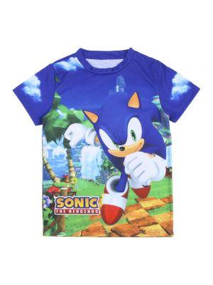 T-shirt z printem - niebieska Sonic