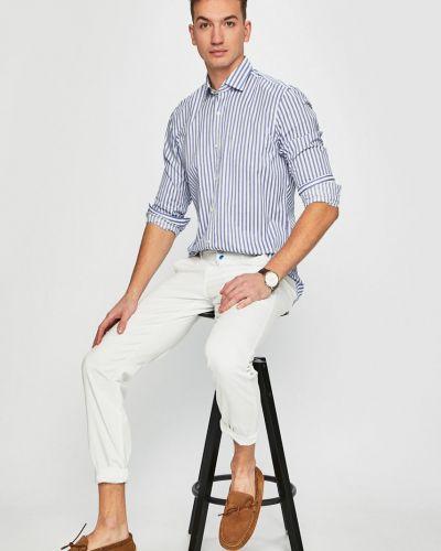 Рубашка с длинным рукавом в полоску хлопковая Pierre Cardin