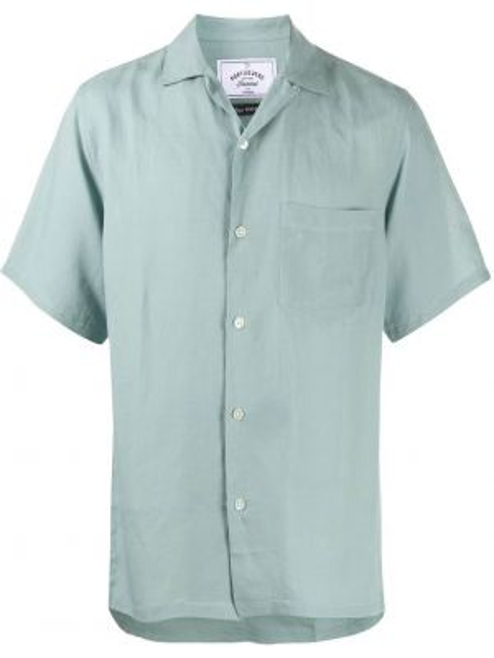 Koszula krótkie z krótkim rękawem jedwab z kieszeniami Portuguese Flannel