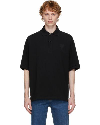 Koszulka bawełniana - czarna Ami Alexandre Mattiussi