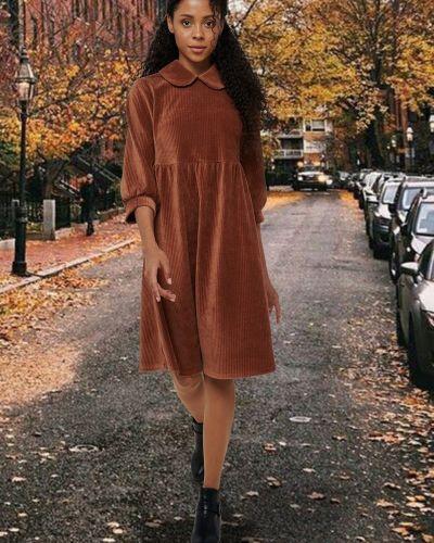Свободное повседневное платье свободного кроя Mix-mode
