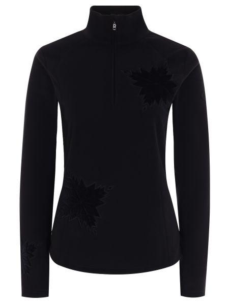 Тонкий флисовый черный спортивный костюм на молнии Bogner