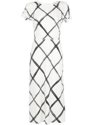 Шелковое приталенное платье миди на пуговицах с вырезом Jason Wu Collection