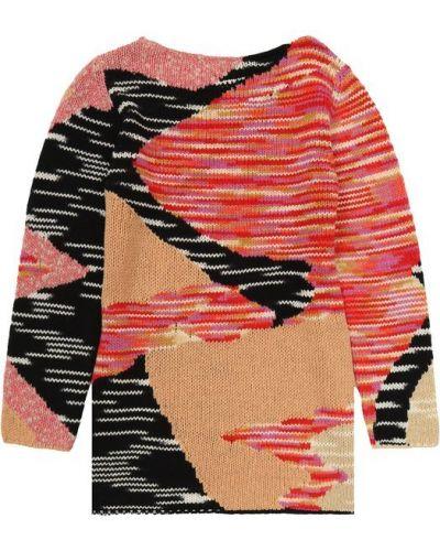 Платье мини розовое вязаное Missoni