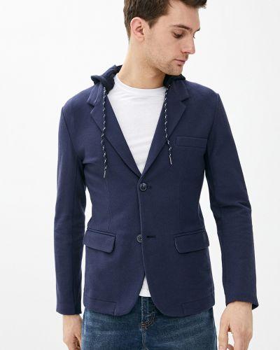Повседневный синий пиджак с капюшоном Baon