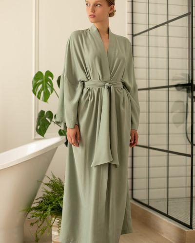 Шелковый халат - зеленый Forli