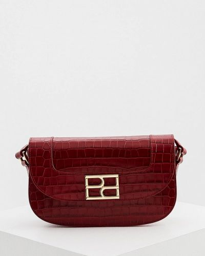 Красная сумка через плечо из натуральной кожи Hogl