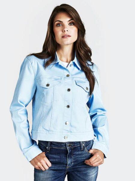 Klasyczna niebieska kurtka bawełniana Guess