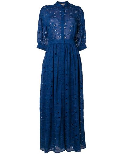 Платье рубашка с вышивкой шелковое Paul & Joe