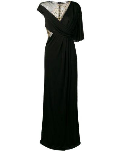 Вечернее платье на запах - черное Versace Collection