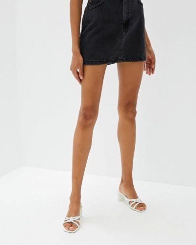 Джинсовая юбка черная Mango