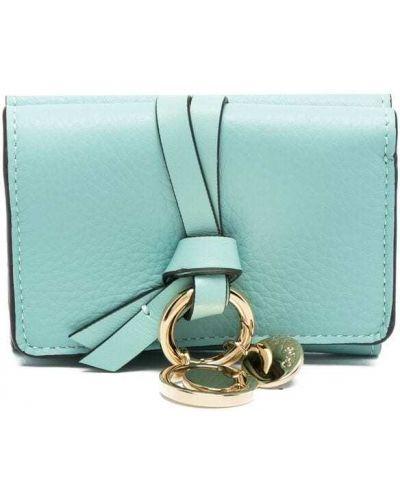 Portfel skórzany - niebieski Chloe