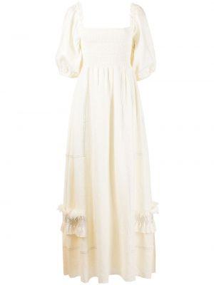 Biała lniana sukienka Sachin & Babi