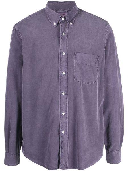 Рубашка вельветовая с воротником с длинными рукавами Aspesi