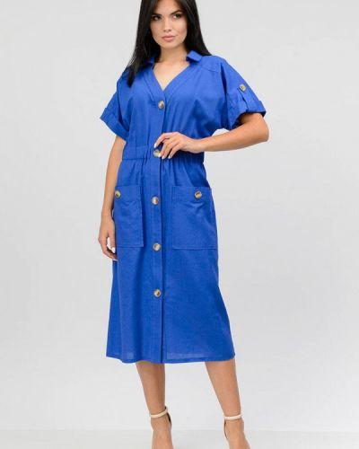 Голубое повседневное платье Raslov