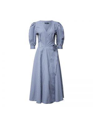 Niebieska sukienka mini rozkloszowana bawełniana Polo Ralph Lauren