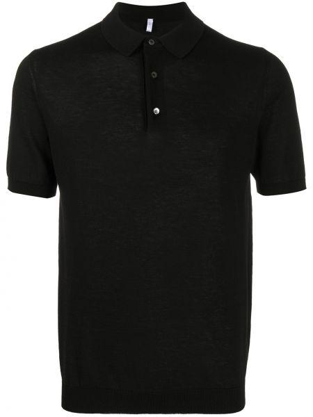 Черная прямая классическая рубашка с воротником на пуговицах Cenere Gb