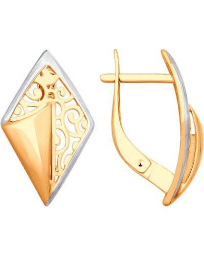 Золотые серьги Sokolov