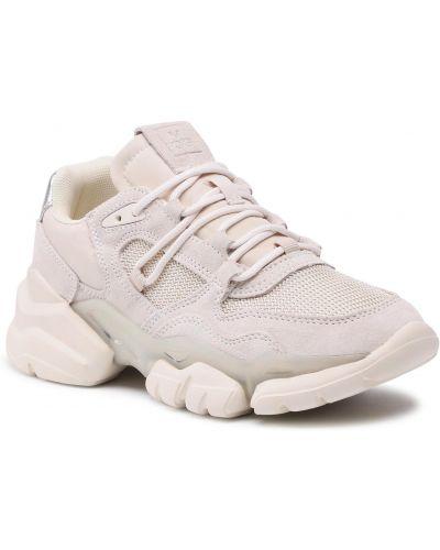 Buty sportowe skorzane - beżowe Marc O'polo
