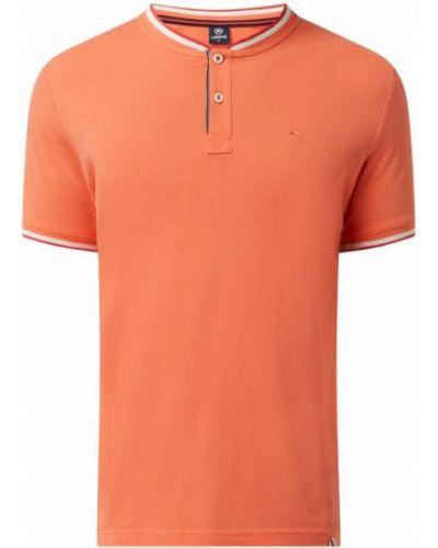 T-shirt bawełniana - pomarańczowa Lerros