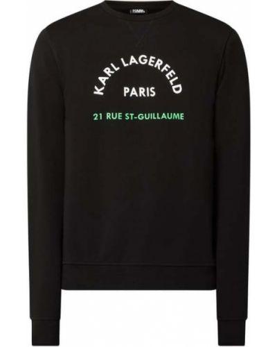 Bawełna bawełna bluzka z dekoltem okrągły Karl Lagerfeld