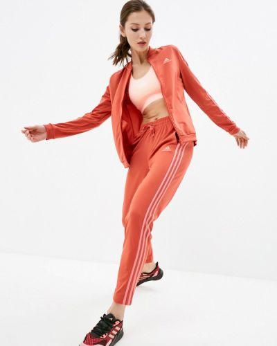 Костюмный красный спортивный костюм Adidas