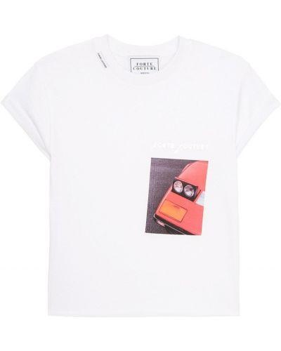 Свободная футболка с логотипом Forte Couture