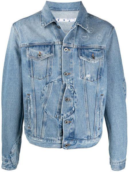 Bawełna niebieski klasyczny jeansy z kieszeniami Off-white