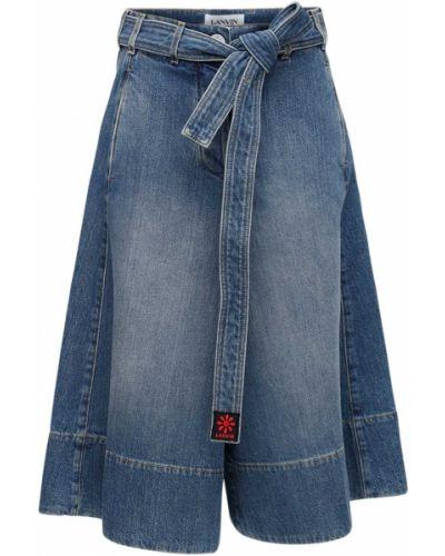 Синие шорты Lanvin