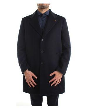 Niebieski płaszcz przeciwdeszczowy Sartoria Latorre