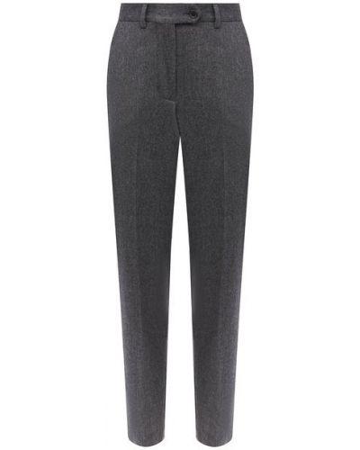 Серые кашемировые костюмные брюки для офиса Kiton