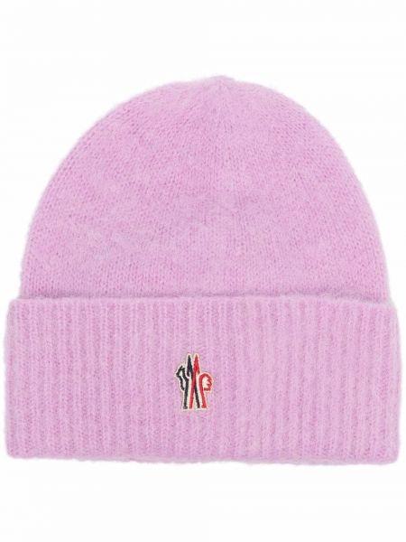 Fioletowa czapka wełniana Moncler Grenoble