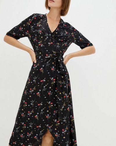 Черное платье с запахом 7arrows