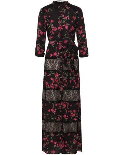 Платье макси с цветочным принтом со вставками Alice + Olivia