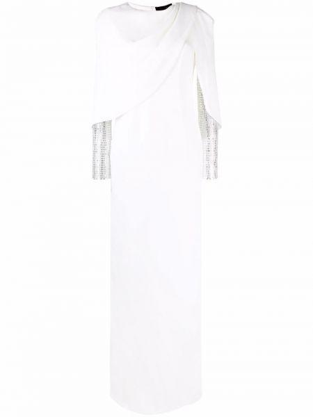Biała sukienka długa z wiskozy Jenny Packham