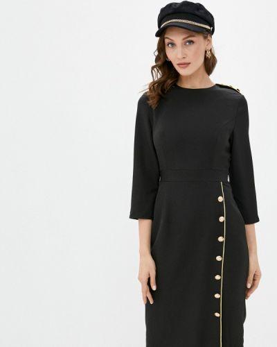 Черное платье-футляр Cavo