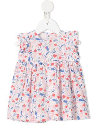 Sukienka w kwiaty bawełniana bez rękawów Petit Bateau